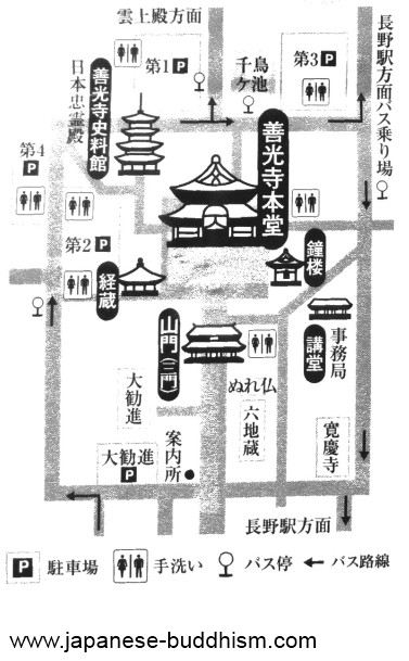 Zenkoji temple map