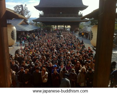This is the Zenkoji plaza on New year day