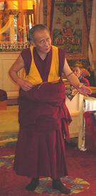 Geshe Tsultrim is the abbot