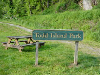 Todd Island Park, a great place for meditation (courtesy of www.fallcreekvacationrentals.com)